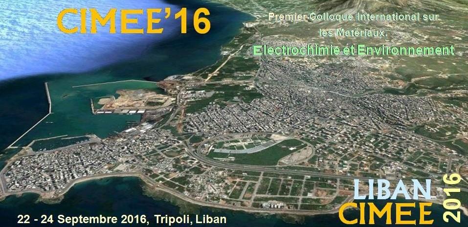 CIMEE2016, les 22 – 24 Septembre, Tripoli, Liban