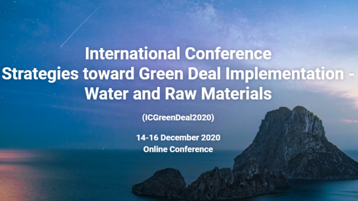 International Conference Strategies toward Green Deal Implementation -Water and Raw Materials